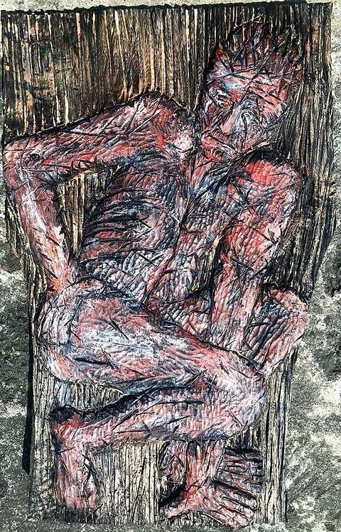 Holzrelief, Bildhauerarbeit