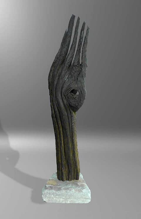 Mooreiche Artefakt kleine Holzskulptur