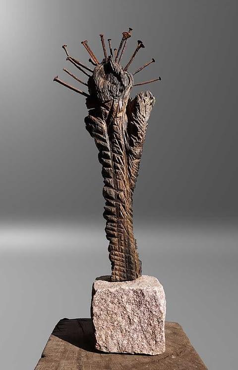 Mooreiche kleine Skulptur