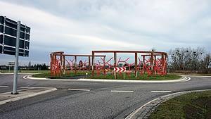 Entwurfsskizze-5 zum Kunst im Kreisverkehr in Schönebeck Ringheiligtum