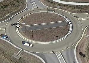 Masszeichnung und Größe der Kreisverkehrsfläche chönebeck Barbyerstrasse