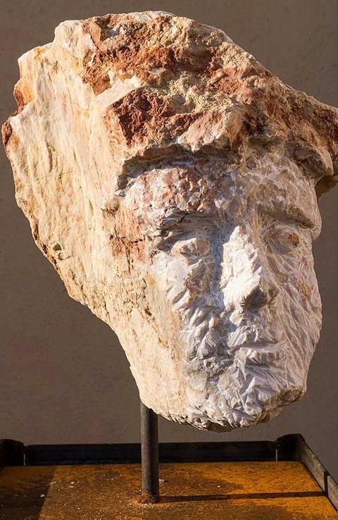 Marmorkonglomerat Kopf Torso